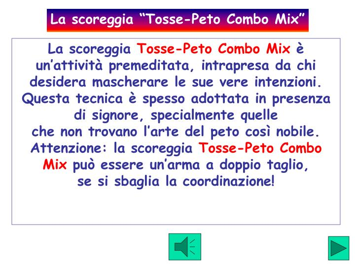 "La scoreggia ""Tosse-Peto Combo Mix"""