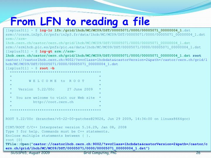 From LFN to reading a file