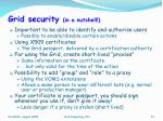 grid security in a nutshell