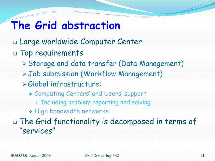 The Grid abstraction