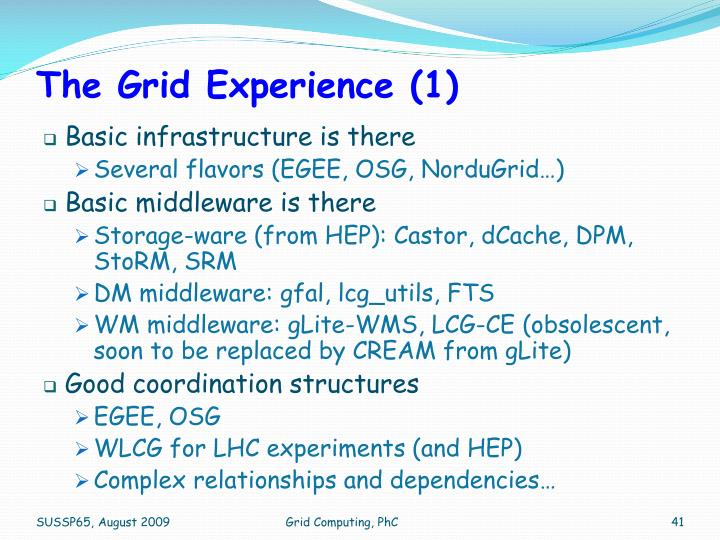 The Grid Experience (1)