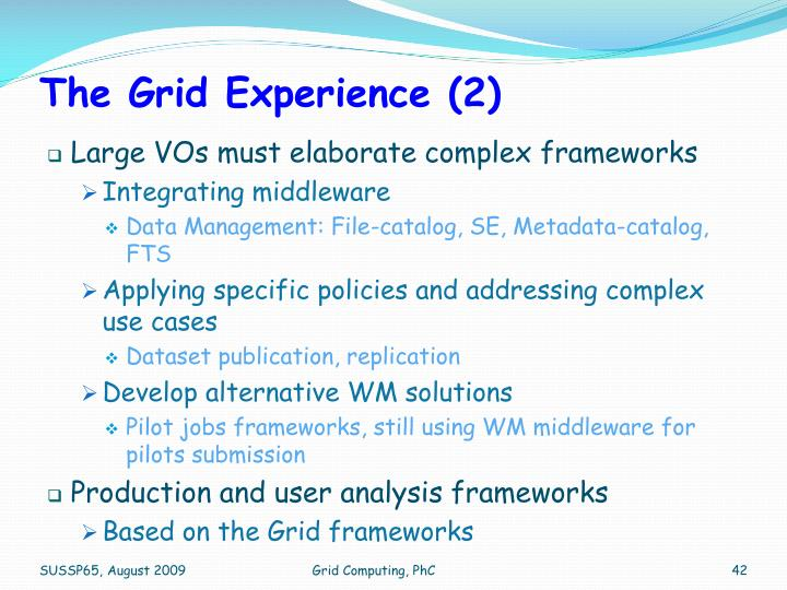 The Grid Experience (2)