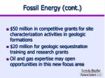 fossil energy cont