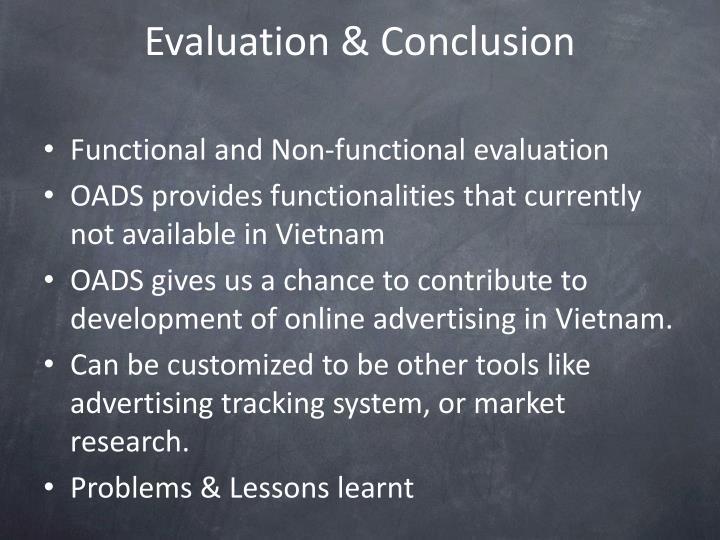 Evaluation & Conclusion