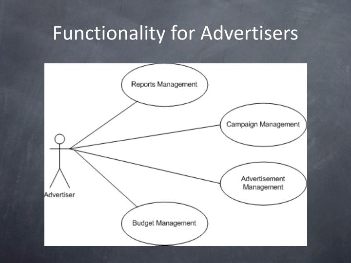 Functionality for Advertisers