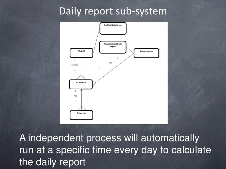 Daily report sub-system