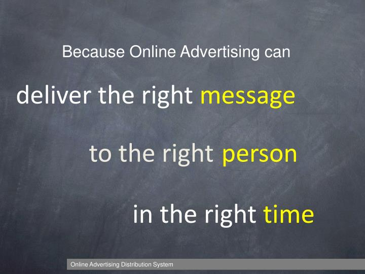 Because Online Advertising can
