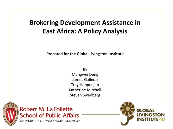 Brokering Development Assistance in