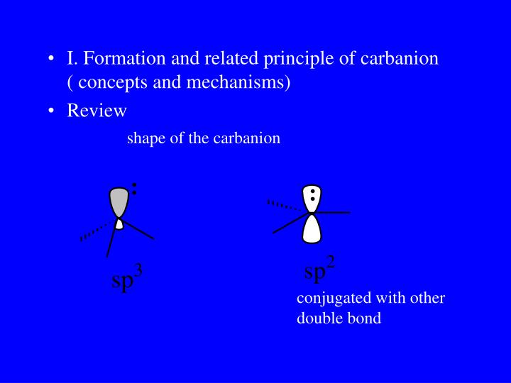 shape of the carbanion