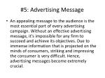 5 advertising message