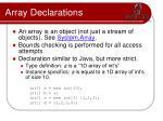array declarations