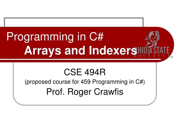 programming in c arrays and indexers