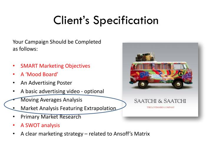 Client s specification