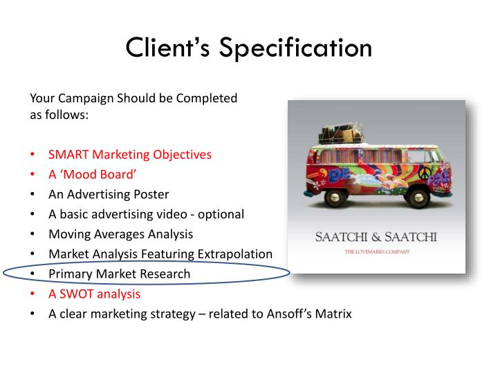 Client's Specification