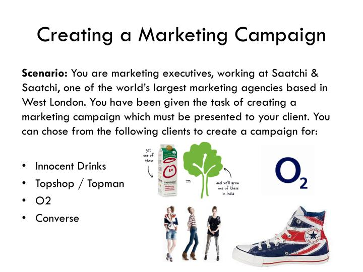 Creating a marketing campaign