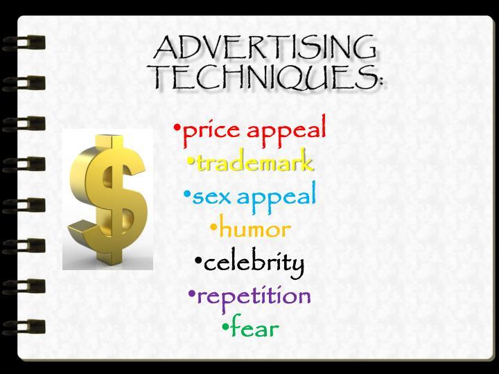 Advertising techniques: