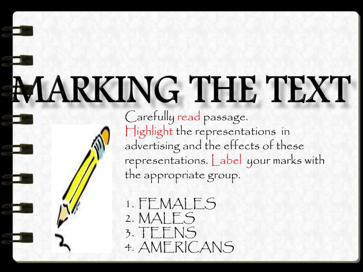 Marking the