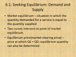 6 1 seeking equilibrium demand and supply