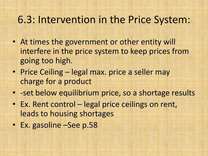 6.3: Intervention in the Price System: