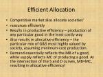 efficient allocation