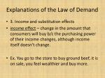 explanations of the law of demand1