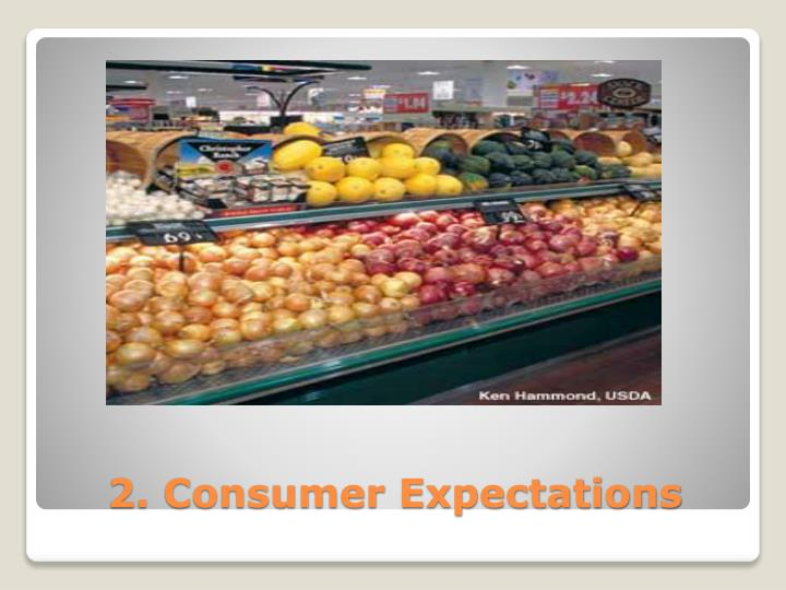 2. Consumer Expectations