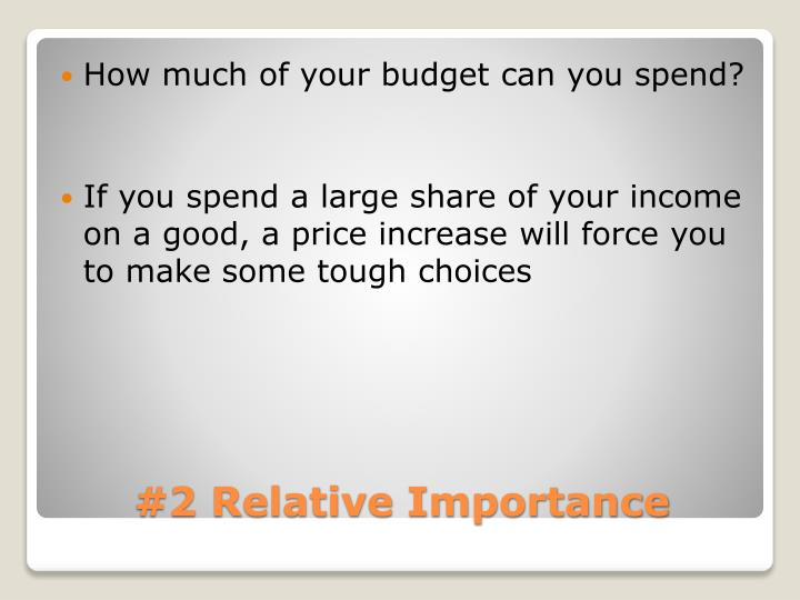 How much of your budget can you spend?