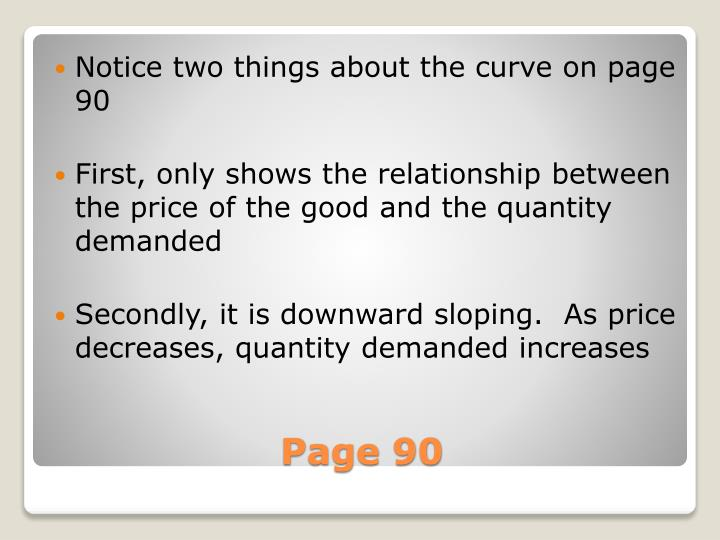 Notice two things about the curve on page 90