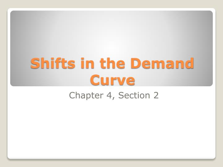 Shifts in the