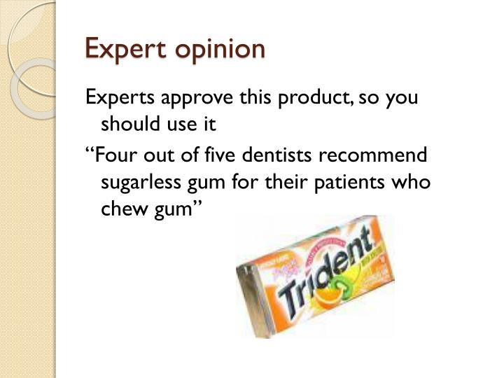 Expert opinion
