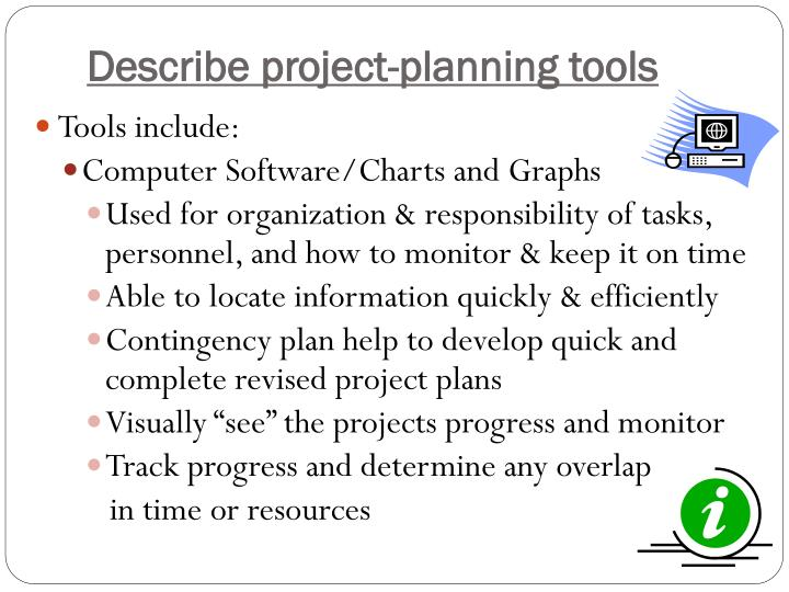 Describe project-planning tools
