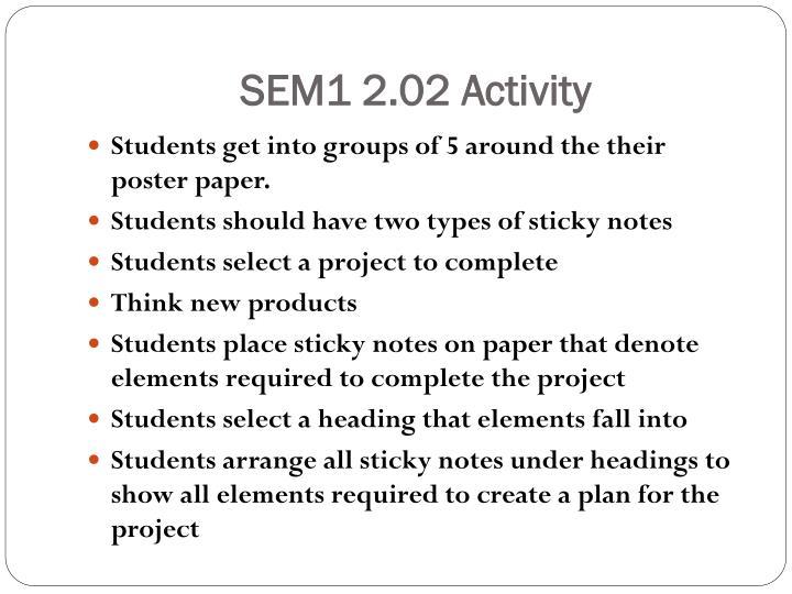 SEM1 2.02 Activity