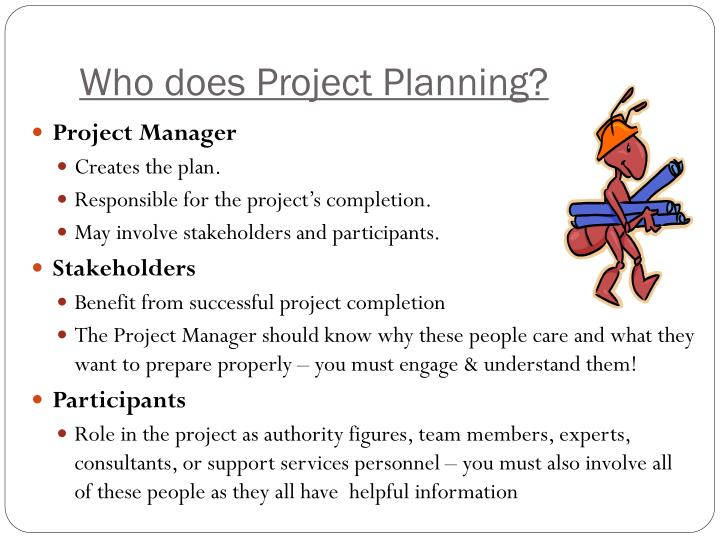 Who does Project Planning?