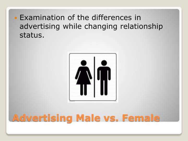 Examination of the differences in advertising while changing relationship status.