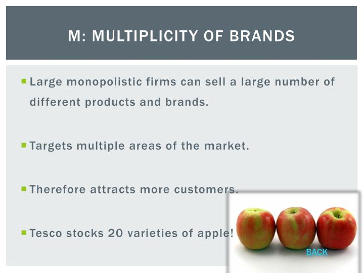 M: Multiplicity of Brands