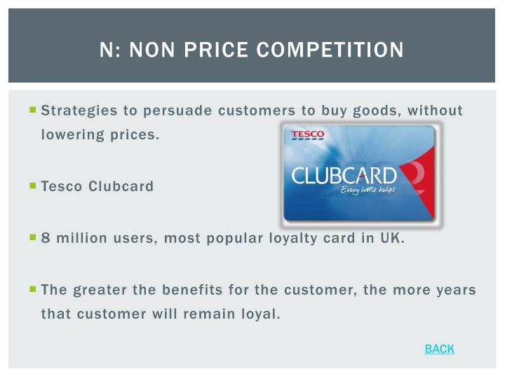 N: Non Price Competition