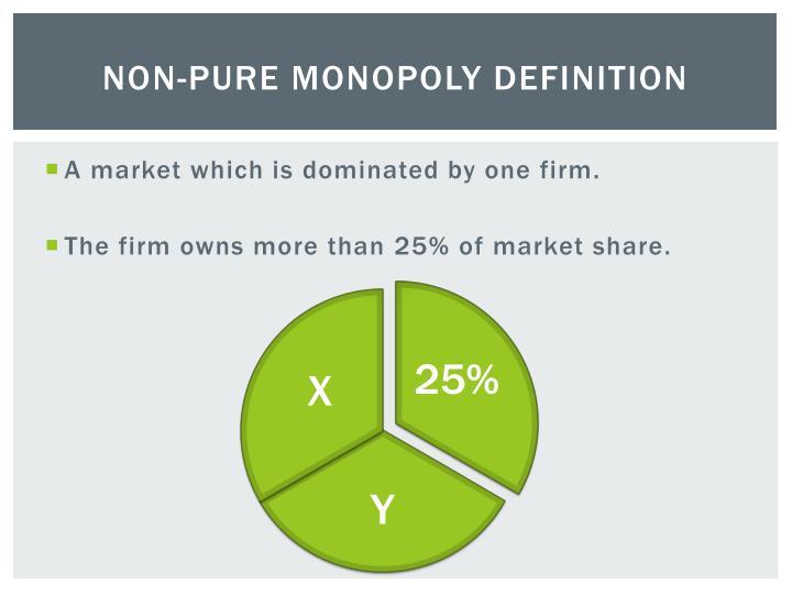 Non-Pure Monopoly Definition