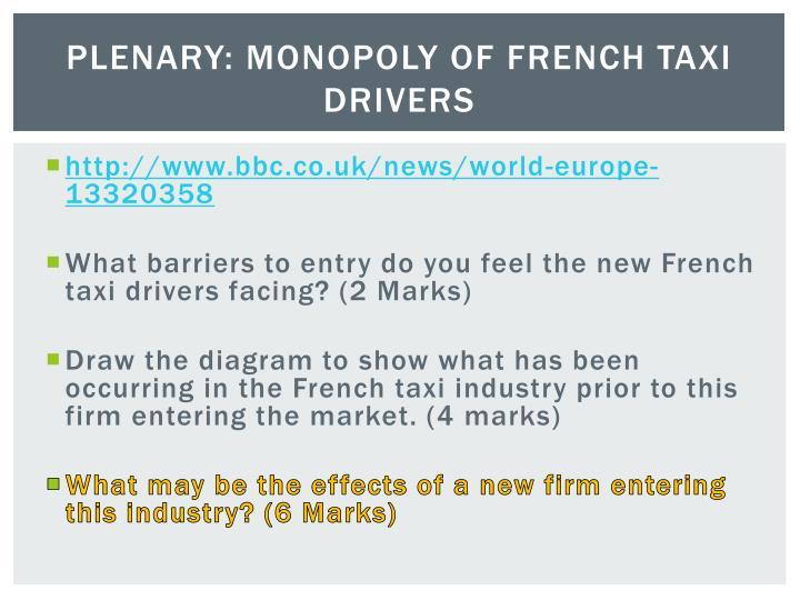 Plenary: Monopoly