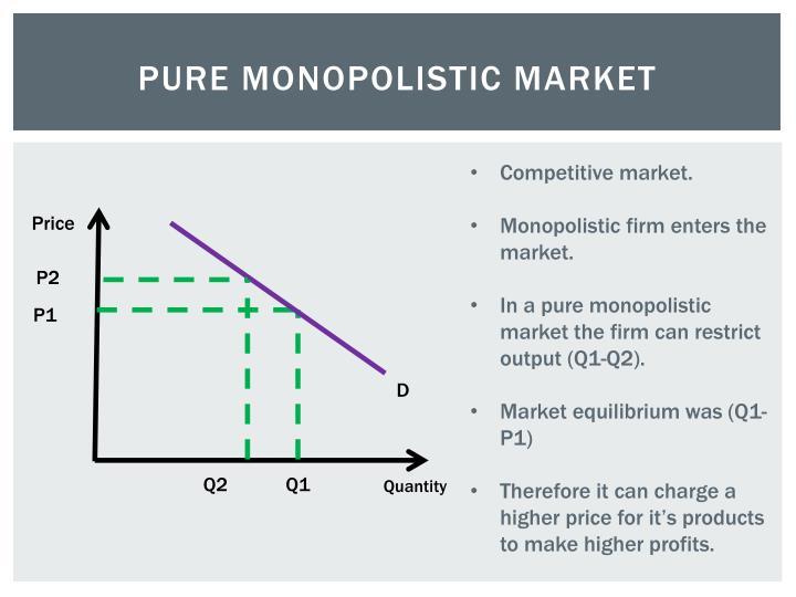 Pure Monopolistic Market