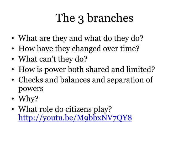 The 3 branches