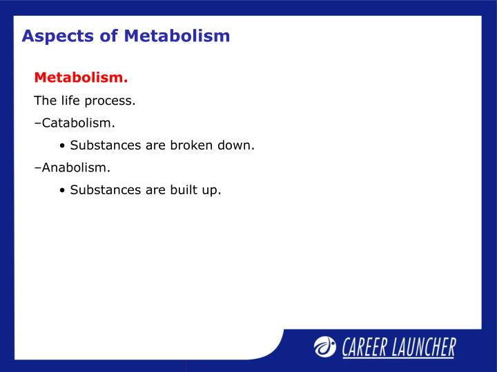 Aspects of Metabolism