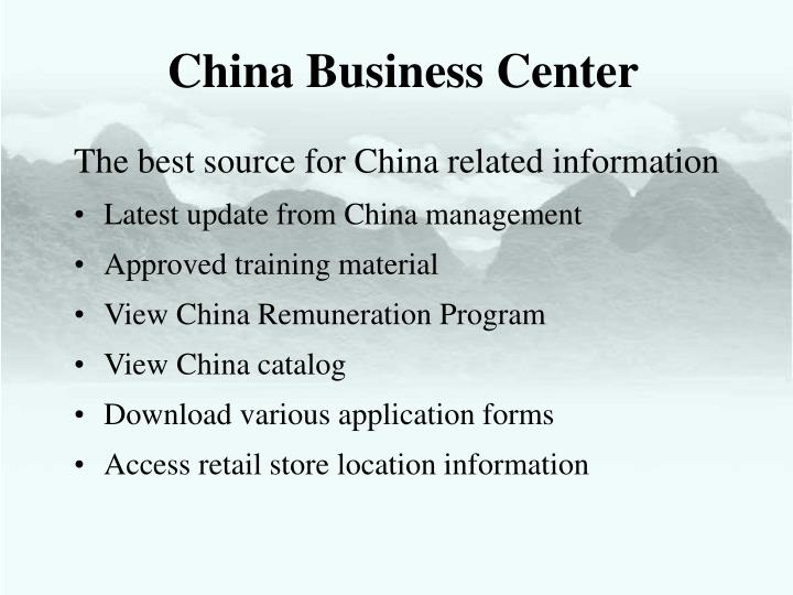 China Business Center