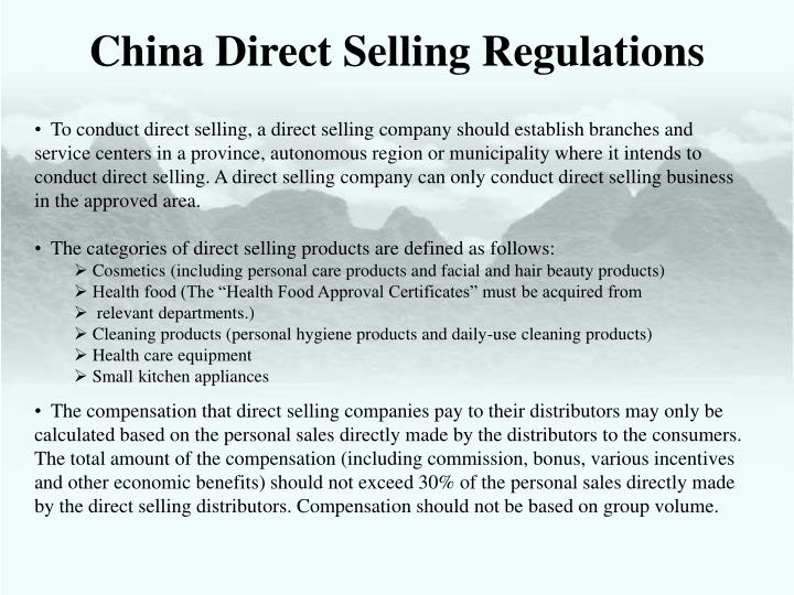 China Direct Selling Regulations