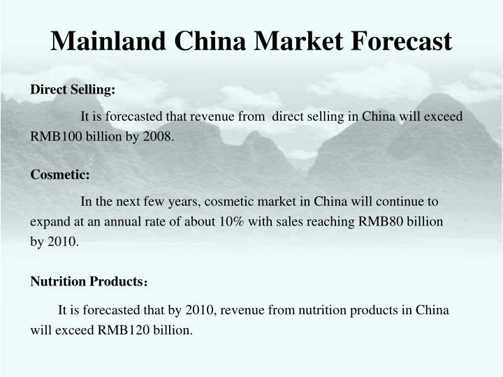 Mainland China Market Forecast
