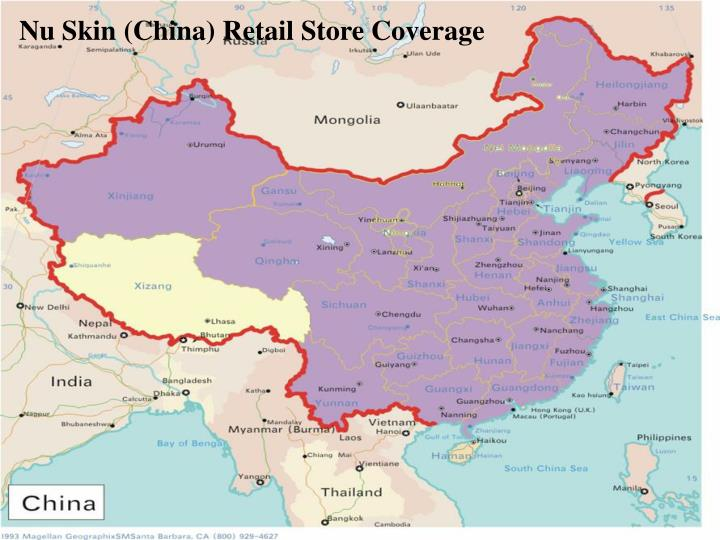 Nu Skin (China) Retail Store Coverage