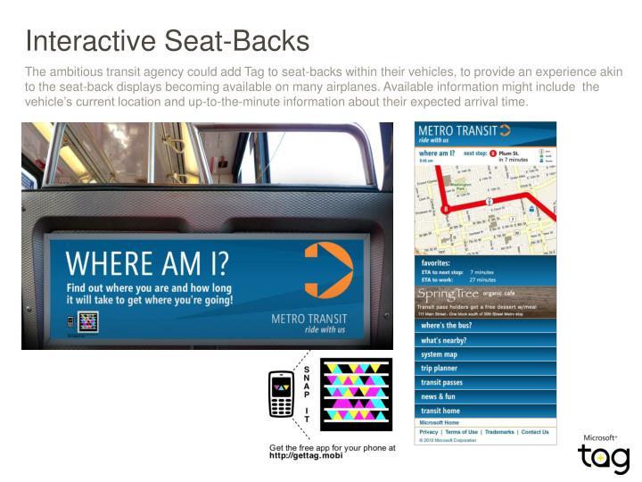 Interactive Seat-Backs
