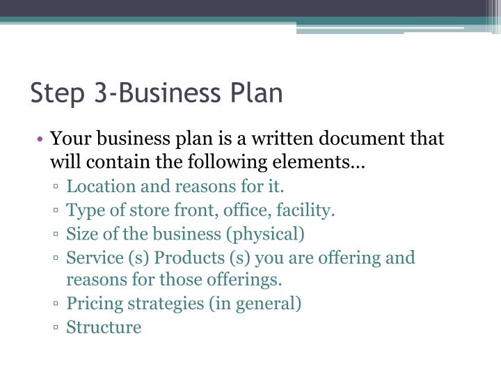 Step 3-Business Plan
