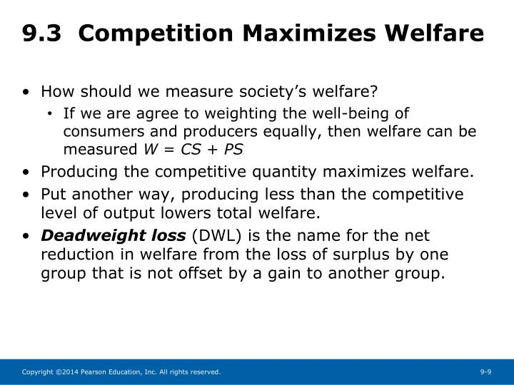 9.3  Competition Maximizes Welfare