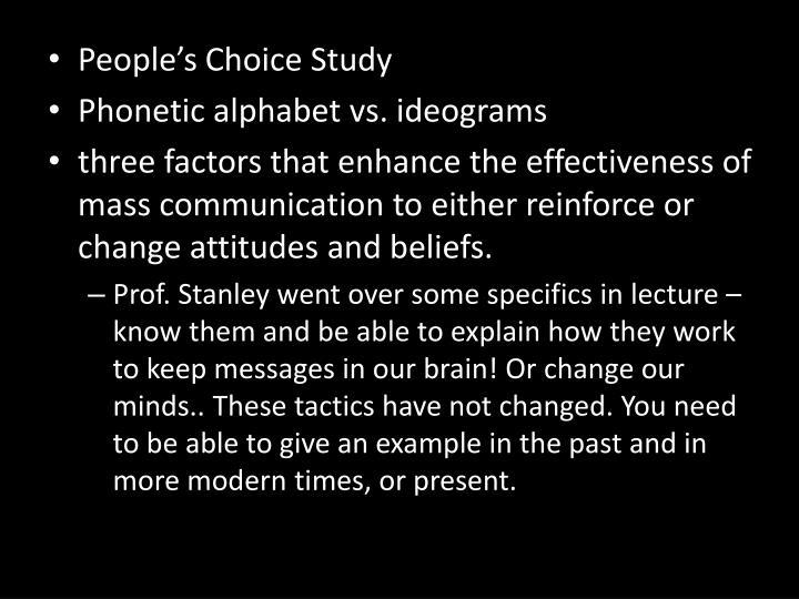 People's Choice Study