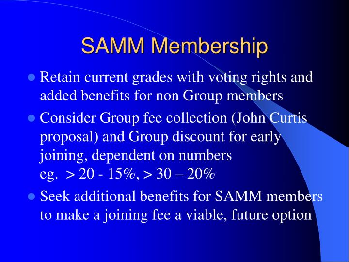 SAMM Membership